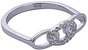 Triple Link Bar Ring - White Gold