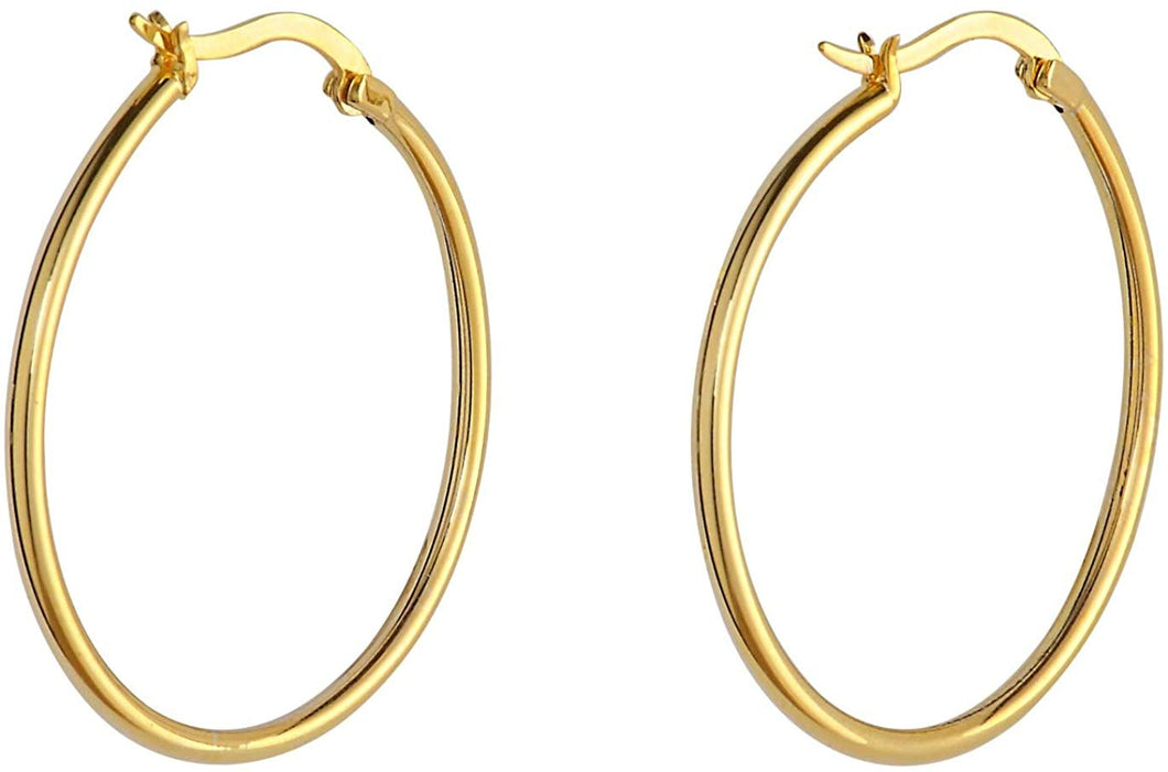 Small Everyday Hoops - Yellow Gold
