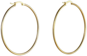 Large Everyday Hoops - Yellow Gold