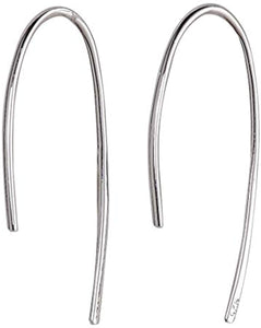 Simple Wire Threader Earrings - White Gold