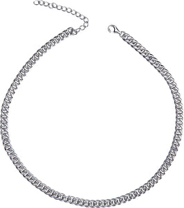 Eternally Linked Choker - White Gold
