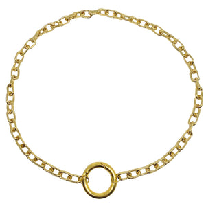 Oversized Circle Clasp Necklace