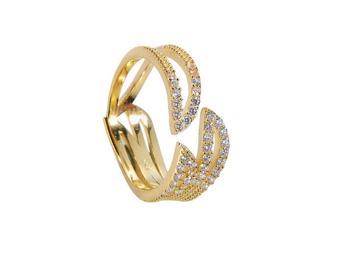 Triple Claw Ring - Yellow Gold