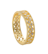 Geometric Statement Band - Yellow Gold