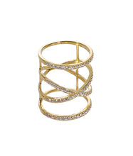 Wires Crossed Ring - Yellow Gold