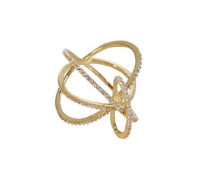 Twisted Links Ring - Yellow Gold