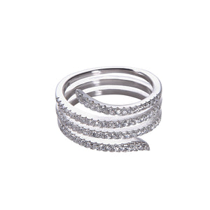 Endless Serpent Ring - White Gold