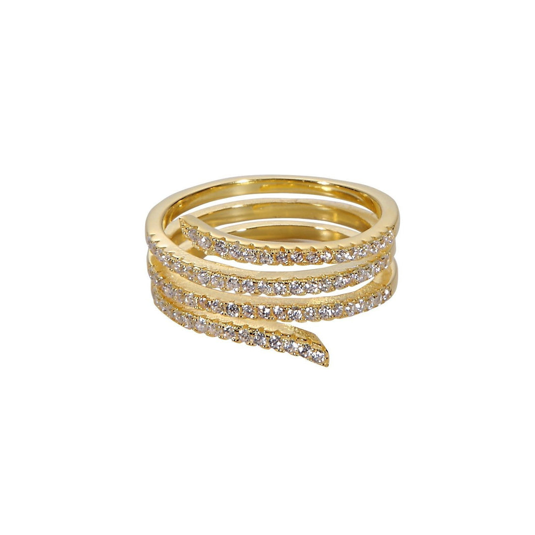 Endless Serpent Ring - Yellow Gold