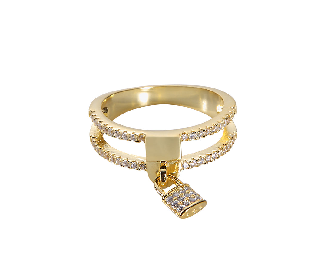 Love Locket Ring - Yellow Gold