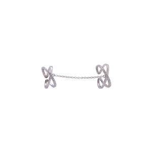 Linked Exes Ring - White Gold