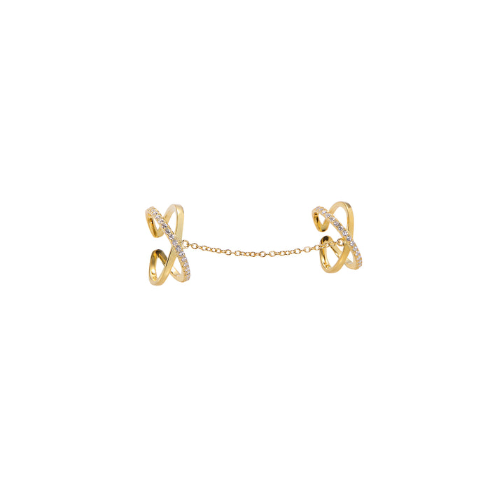 Linked Exes Ring - Yellow Gold