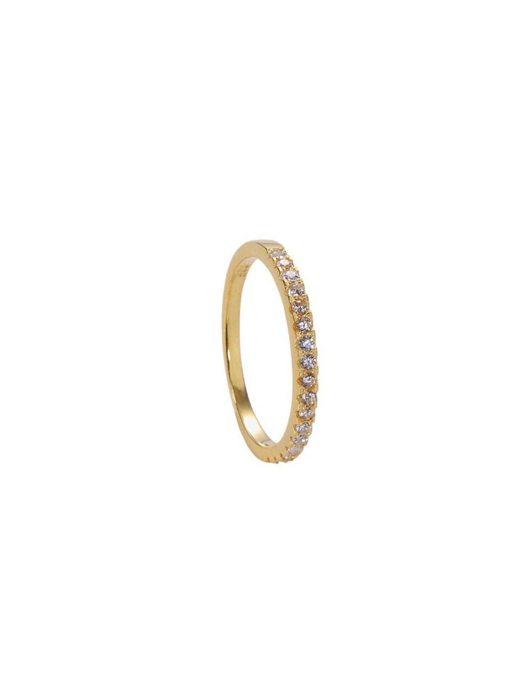 Classic Pavé Band - Yellow Gold