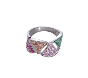 Colorblock Geo Ring