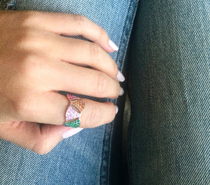Colorblock Geo Ring Lifestyle Photo