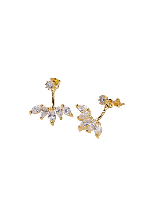 Petal Drop Earrings - Yellow Gold