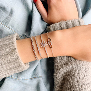 Triple Link Bracelet - White Gold Lifestyle Photo