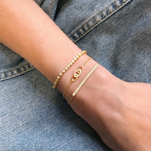 Triple Link Bracelet - Yellow Gold Lifestyle Photo