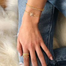 Starburst Bracelet - Yellow Gold Lifestyle Photo