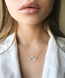 Heartbeat Necklace - White Gold Lifestyle Photo
