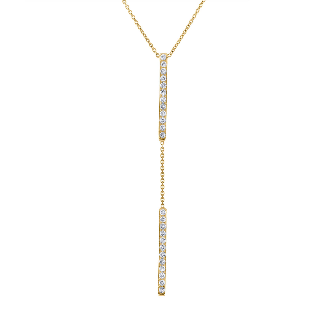 Double Bar Lariat - Yellow Gold