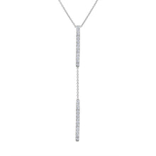 Double Bar Lariat - White Gold