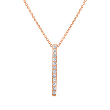 Pavé Bar Pendant - Rose Gold