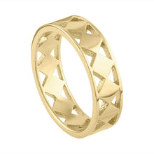 Cutout Geo Ring - Yellow Gold