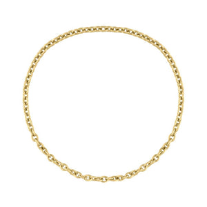 Classic Gold Chain Ring - Yellow Gold
