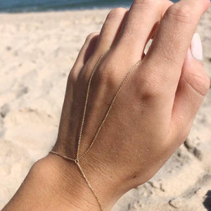 Classic Gold Hand Chain - Lifestyle Photo