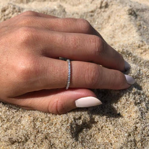Pavé Eternity Band - Lifestyle Photo