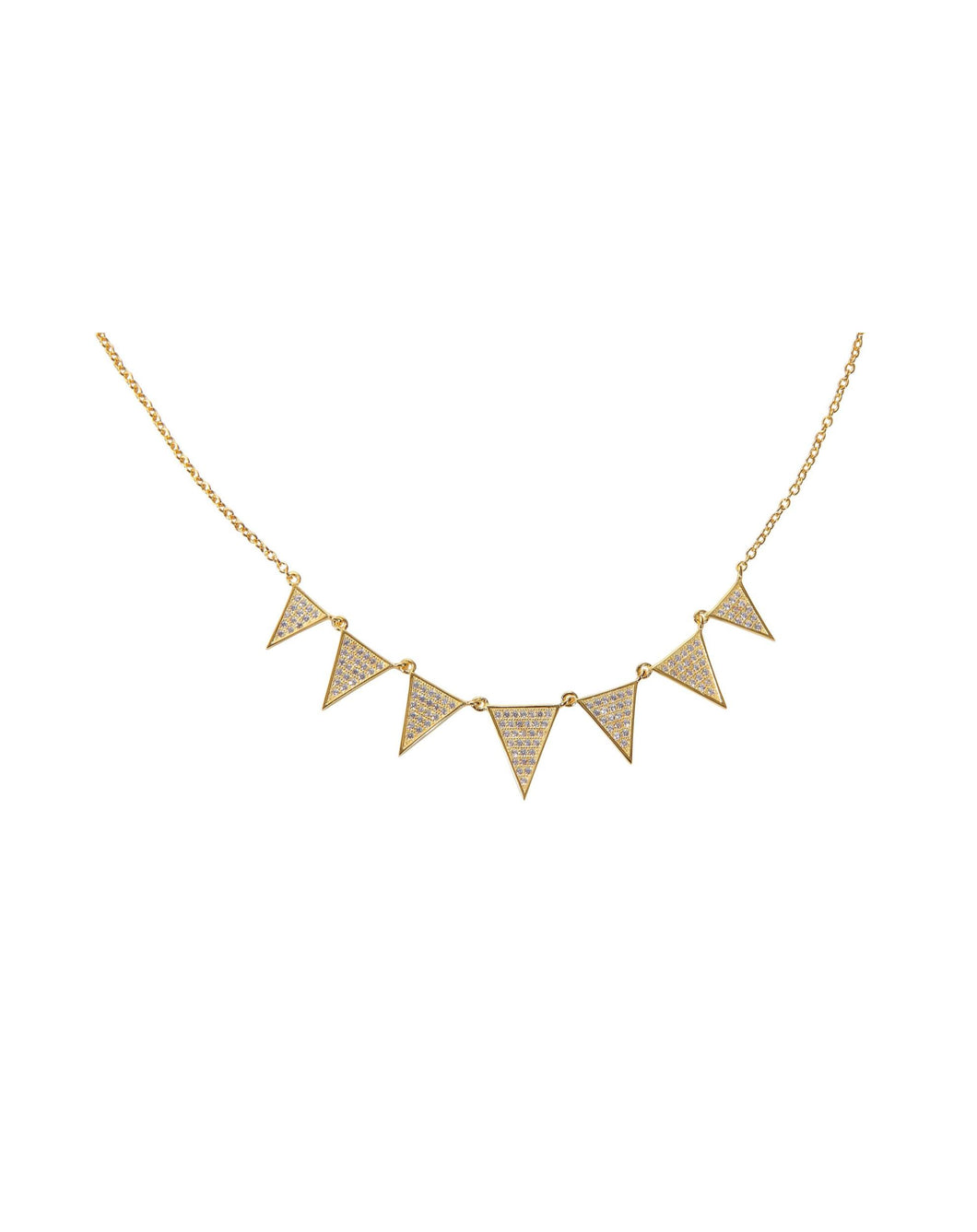 Triangle Link Necklace - Yellow Gold