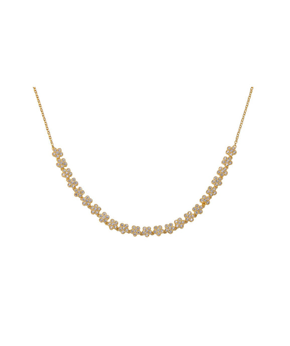 Daisy Choker - Yellow Gold