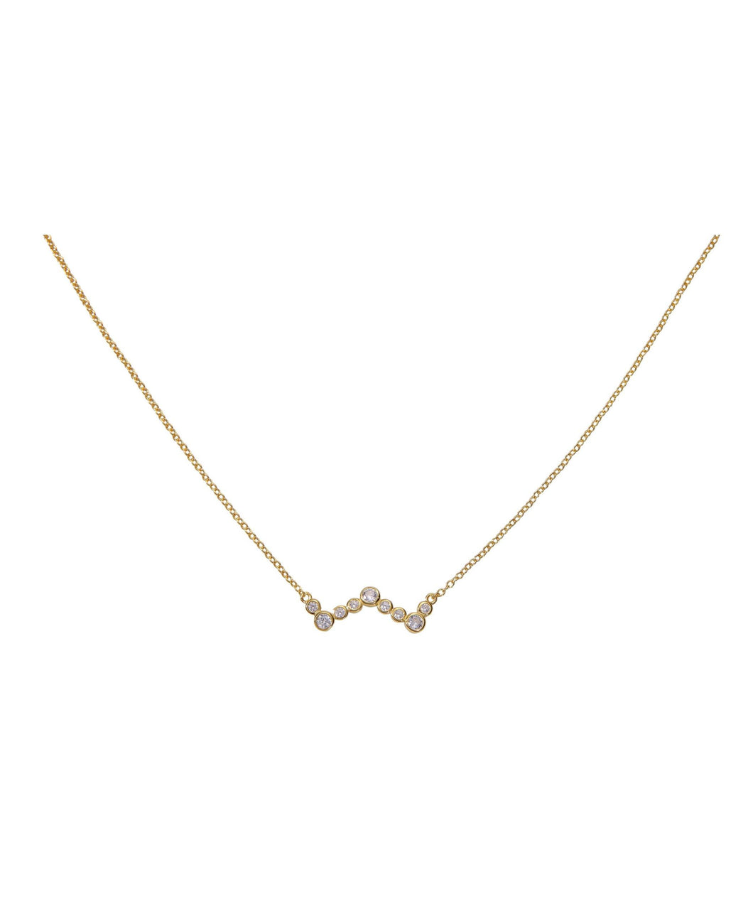 Heartbeat Necklace - Yellow Gold