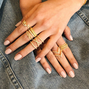 Endless Serpent Ring - Yellow Gold Lifestyle Photo