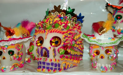 Gigantic sugar skulls