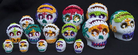 day of the dead altar sugar skulls