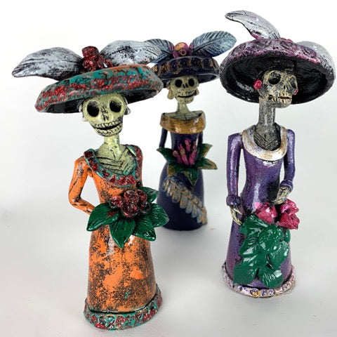 Clay Catrina Figurines