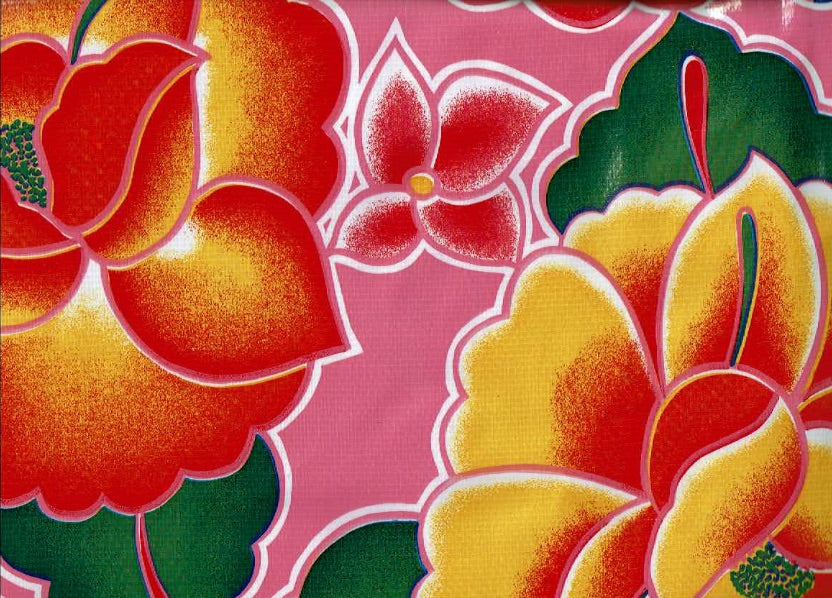 Mexican Oilcloth - Frida on Rosa Mexicana