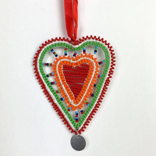 Beaded Heart Ornament
