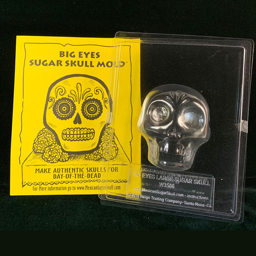 Big Eyes Sugar Skull Mold - Dozen