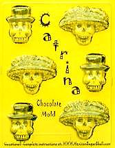 Catrina Chocolate Skull Mold