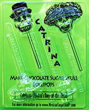 Catrina Chocolate Sugar Skull Lollipops Mold
