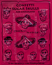 Confetti Sugar Skulls for Chocolates Mold
