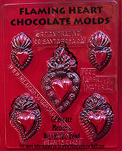 Flaming Heart Chocolate Mold