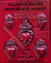 Flaming Heart Chocolate Molds