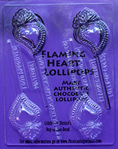 Flaming Heart Lollipops Mold