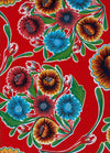 Mexican Oilcloth - Floral on Red