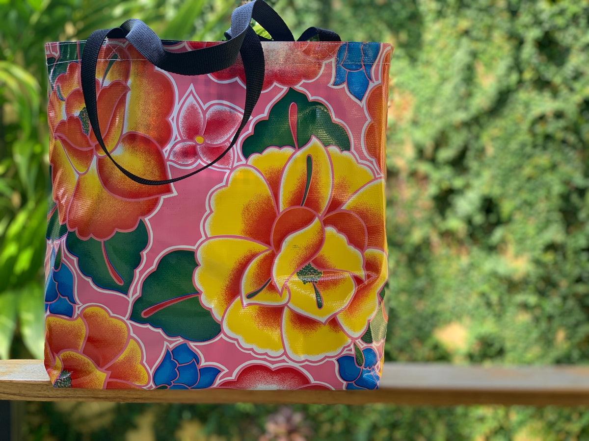 Mexican Oilcloth Market Bag – Frida Rosa Mexican
