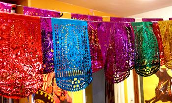 Guadalupe Papel Picado Banners – Large Mylar Vertical, magenta