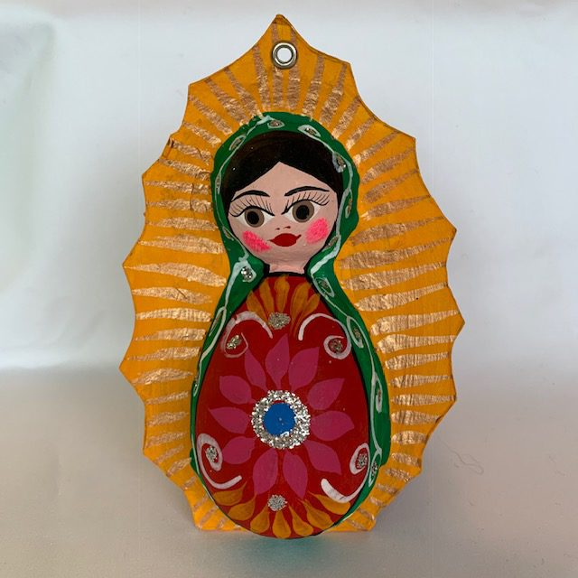 Guadalupe with Round Dresses Ornament